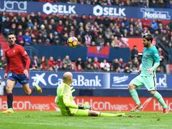 Lionel Messi und der FC Barcelona erledigten die Pflichtaufgabe gegen Osasuna mit Bravour