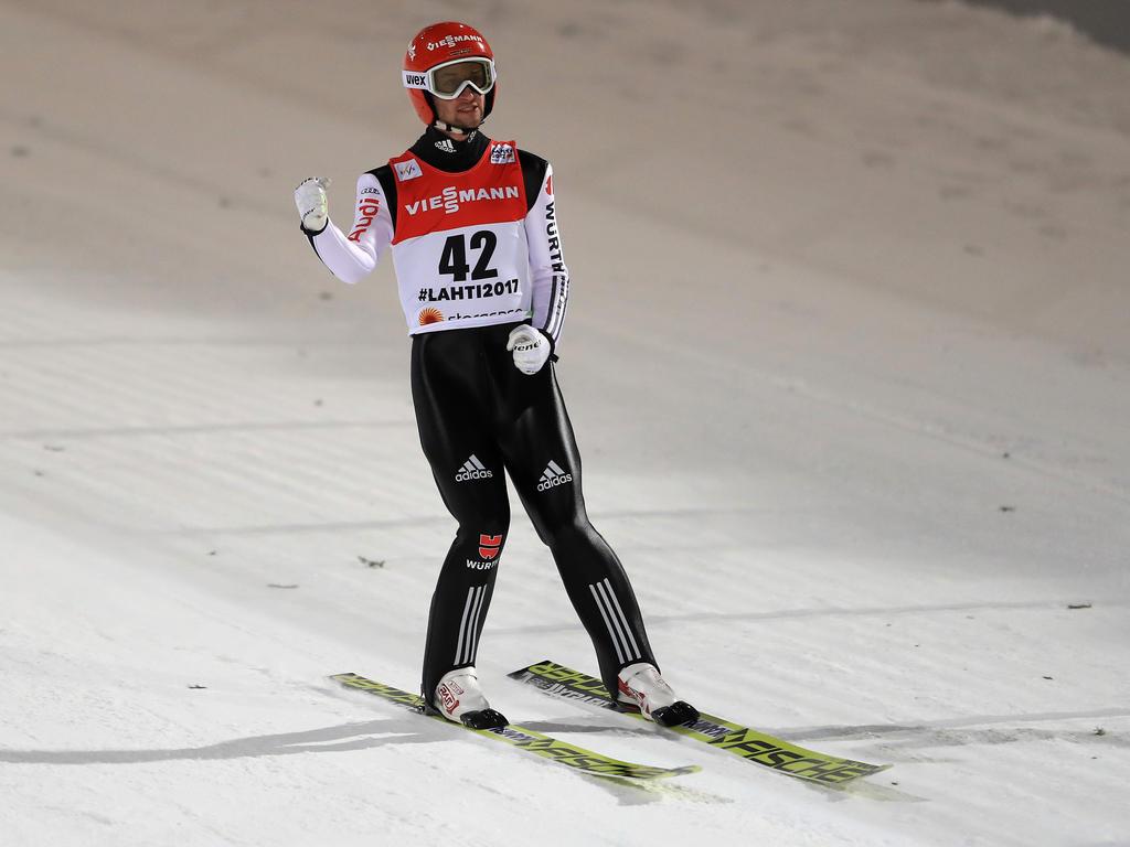 Markus Eisenbichler ist in der Qualifikation auf Platz drei gesprungen
