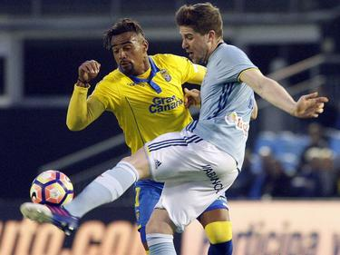 Kevin-Prince Boateng (l.) verliert mit Las Palmas gegen Vigo