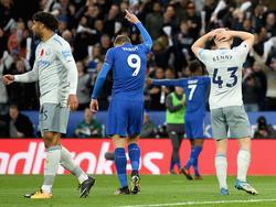 Vardy celebra su tanto al Everton en el King Power Stadium. (Foto: Getty)