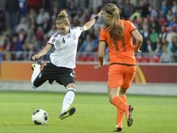Heute Normalität: Damals jedoch legte das erste Länderspiel der deutschen Damen gegen die Niederlande den Grundstein