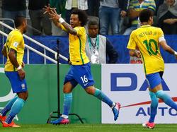 Ticket für die WM gelöst: Marcelo (M.) jubelt