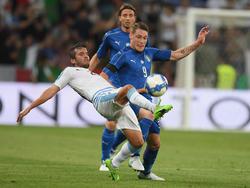 Die italienische Nationalmannschaft siegte gegen Uruguay