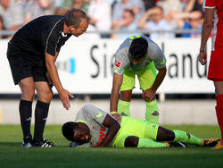 Jhon Córdoba erlitt beim Testspiel eine Prellung auf die Wade
