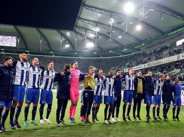 Die Berliner durften auch in Wolfsburg feiern
