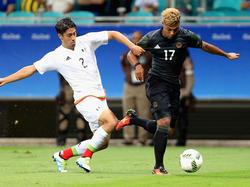 Serge Gnabry (r.) erzielte den ersten deutschen Treffer