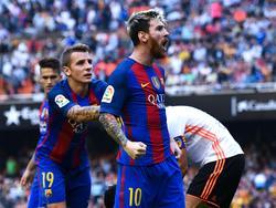 Lionel Messi hatte sich in Valencia nicht im Griff