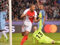 Mbappé consigue una diana contra el City en Champions. (Foto: Imago)