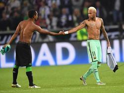 Raffael (l.) bekam jede Menge Lob von Neymar