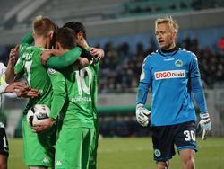 Borussia Mönchengladbach setzte sich ungefährdet gegen Fürth durch