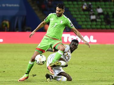 Frühes Aus für Algerien (in grün)