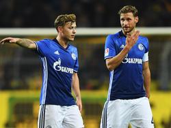 Max Meyer (l.) und Benedikt Höwedes stehen auf Schalke in der Kritik