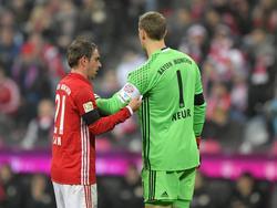 Manuel Neuer (re.) ist der neue Spielführer der Bayern
