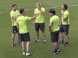 Das DFB-Trainerteam setzte am Montag vor allem auf Regeneration