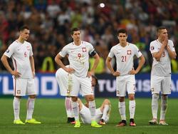 Aus im Elfmeterschießen: Bei Polen macht sich Enttäuschung breit