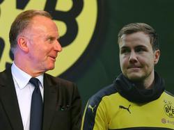 Bayern-Boss Karl-Heinz Rummenigge (l.) hat Mitleid mit Mario Götze