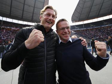 Ralph Hasenhüttl und Ralf Rangnick sind das Leipziger Erfolgsgespann
