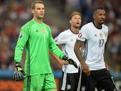 Neuer (l.) und Boateng (r.) können sich wohl die größten Hoffnungen auf das Kapitäns-Amt in der DFB-Elf machen