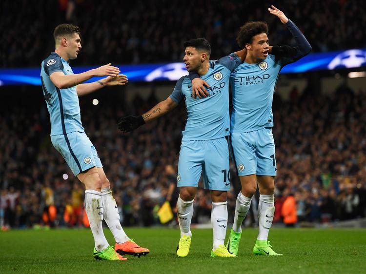 Manchester City bejubelt die Tor-Party gegen Monaco