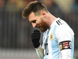 Macht die Fortsetzung seiner Nationalmannschaftskarriere von der WM 2018 in Russland abhängig: Lionel Messi
