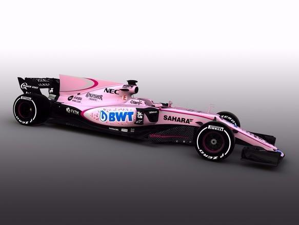 Pink ist bei Force India nun Trumpf