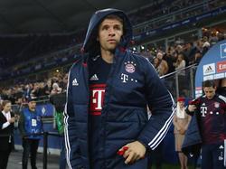 Bayerns Thomas Müller kam gegen Hamburg zunächst von der Bank
