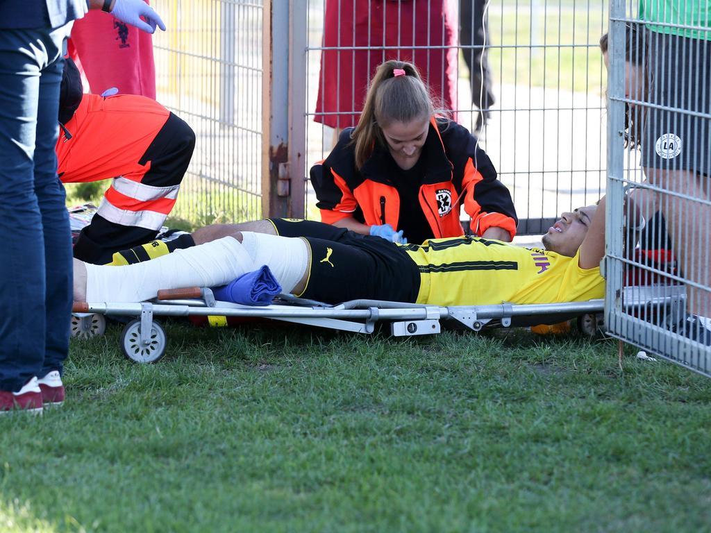 Dario Scuderi musste vom Feld getragen werden