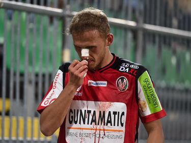 Ried-Mittelfeldspieler Marcel Ziegl erlitt in Mattersburg einen Nasenbeinbruch