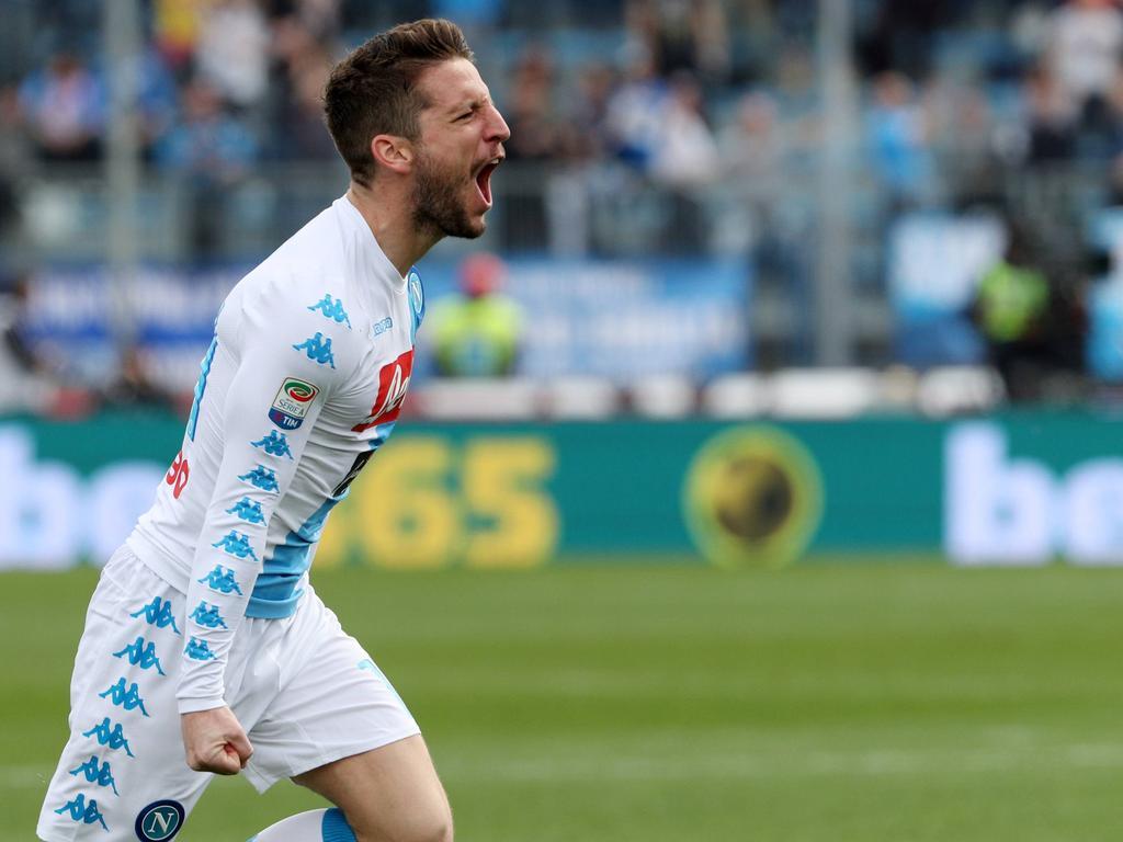 El belga Dries Mertens convirtió hoy su gol número 20 en la Serie A. (Foto: Imago)