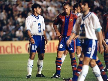 Für Teneriffa spielte César Gómez (l.) sogar Mal gegen Ronaldo (M.). (Bildquelle: kaisermagazine.com)