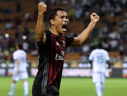 El cafetero del AC Milan Carlos Bacca. Foto: ProShots