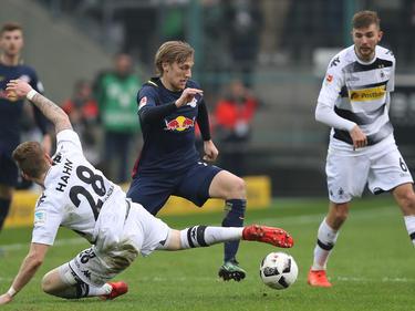 Emil Forsberg brilló con un gol y una asistencia. (Foto: Getty)