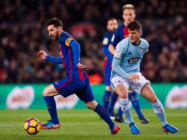 Nemanja Radoja ante Messi este mes de marzo en el Nou Camp. (Foto: Getty)