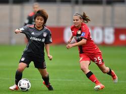 Mana Iwabuchi (l.) verlässt den FC Bayern
