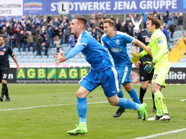 Maximilian Wolfram machte mit seinem Tor zum 3:1 gegen Paderborn den Deckel drauf