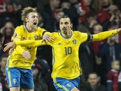 Emil Forsberg und Zlatan Ibrahimović spielten zusammen bei der EM in Frankreich