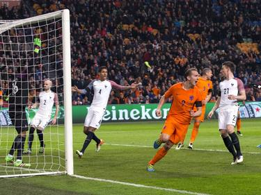 Luuk de Jong erzielte gegen Frankreich den Anschlusstreffer