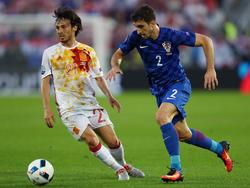Šime Vrsaljko (rechts) war für Kroatien bei der EM im Einsatz