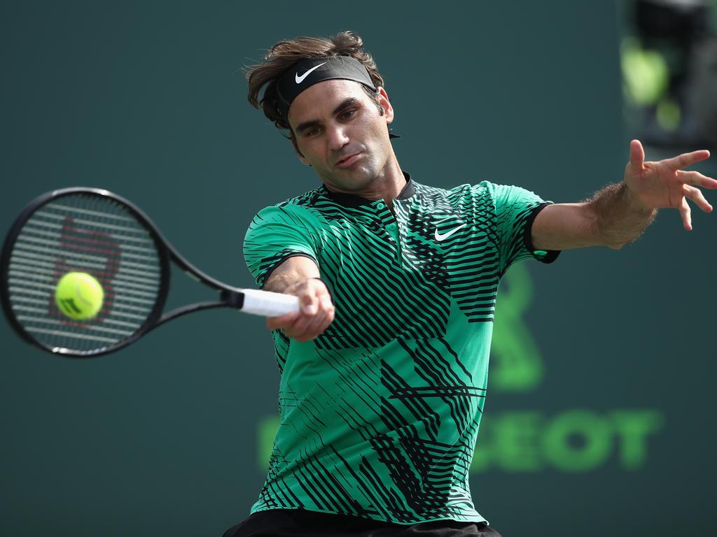 Roger Federer zittert sich ins Halbfinale von Miami