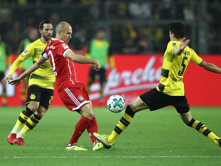 Arjen Robben (l.) wird voraussichtlich gegen Borussia Dortmund fehlen