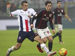 Ante Budimir (l.) spielte mit Crotone schon gegen Milan