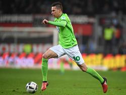 Julian Draxler vom VfL Wolfsburg im Spiel gegen den FC Ingolstadt (26.11.16).