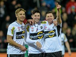 Für Abwehr-Bollwerk Benedikt Zech (Bildmitte) gibt es Interesse aus der deutschen Bundesliga