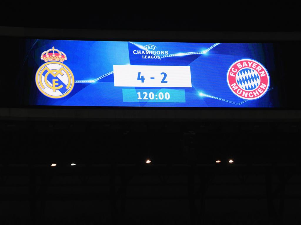 Bayern verlor nach Verlängerung 2:4 gegen Real Madrid