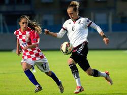 Simone Laudehr (r.) will in der kommenden Saison wieder angreifen