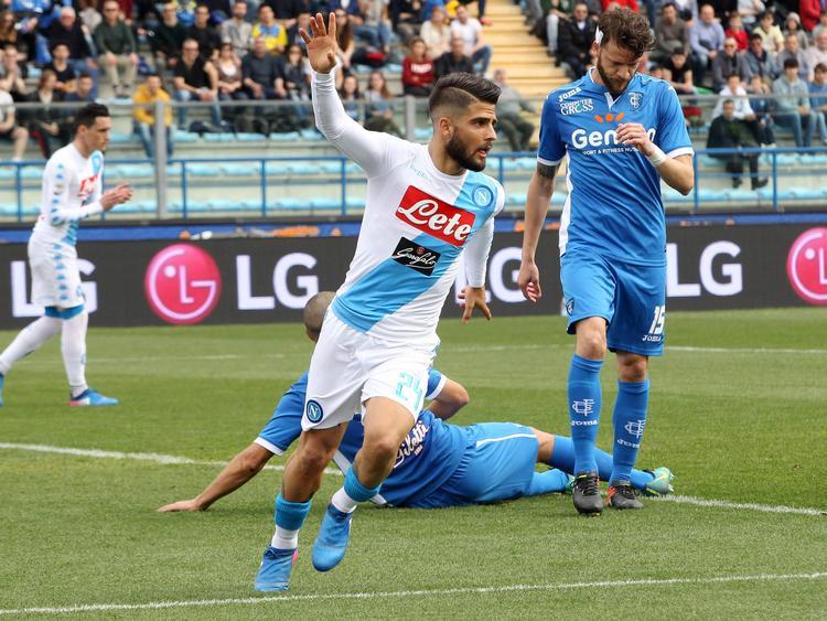 Lorenzo Insigne steuerte zwei Treffer zum 3:2-Sieg von Napoli bei