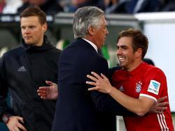 Ancelotti wurde in seiner ersten Saison mit Bayern Meister, Lahm zum achten Mal