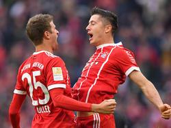 Robert Lewandowski und Thomas Müller steuerten drei der vier Münchner Treffer bei