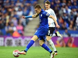 Jamie Vardy trägt nach Auffassung von Arsène Wenger auch im nächsten Jahr das Trikot von Leicester City