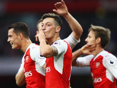 Mesut Özil erzielte beim 3:0-Erfolg des FC Arsenal einen Treffer